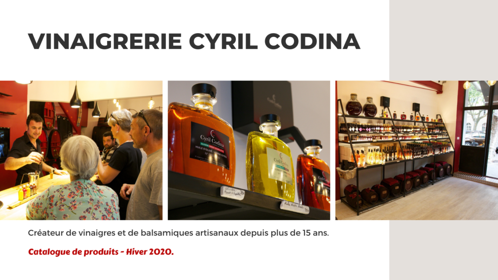 Catalogue fin 2020 - Vinaigrerie Cyril Codina